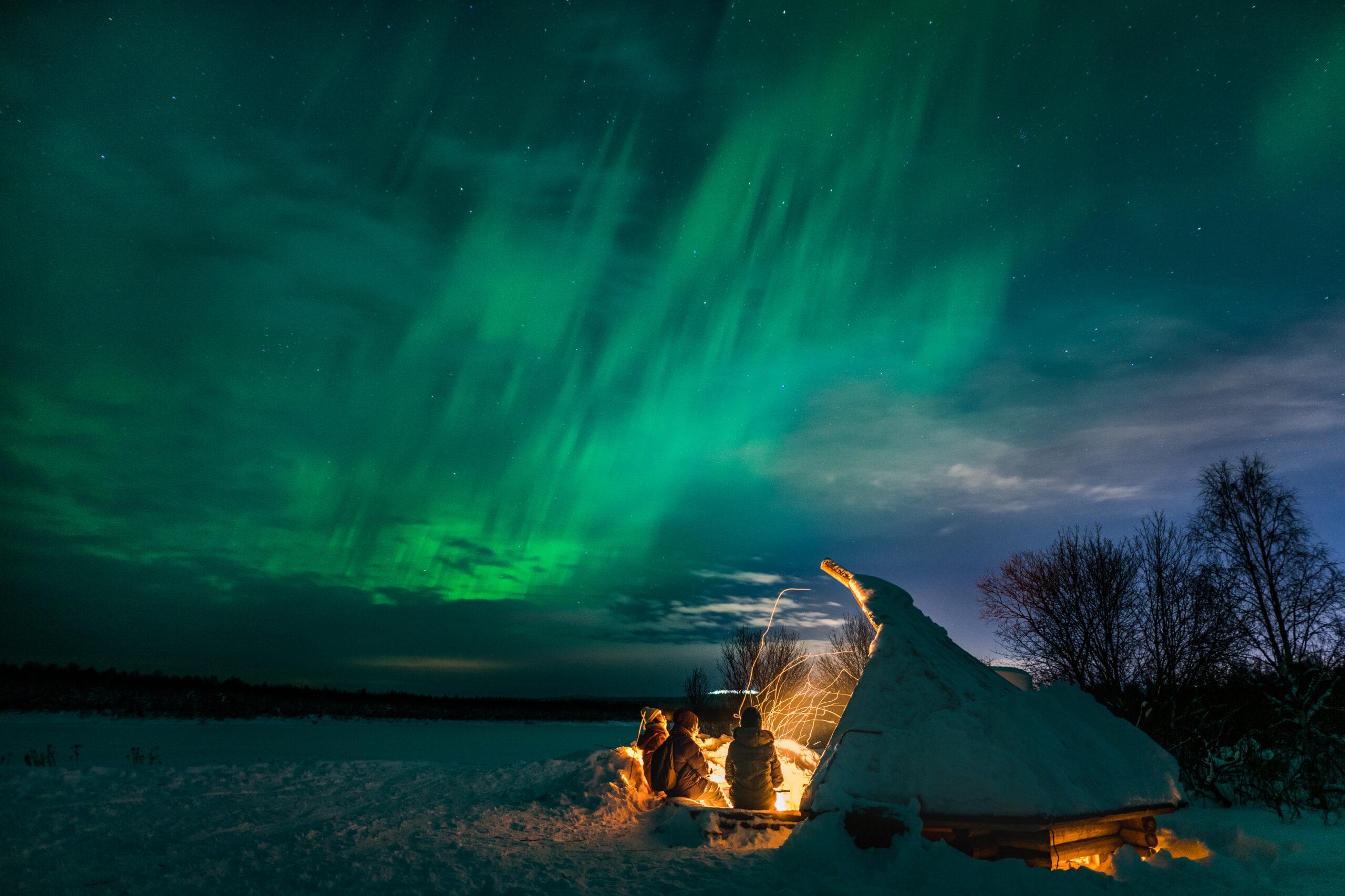 northern lights trip Rovaniemi