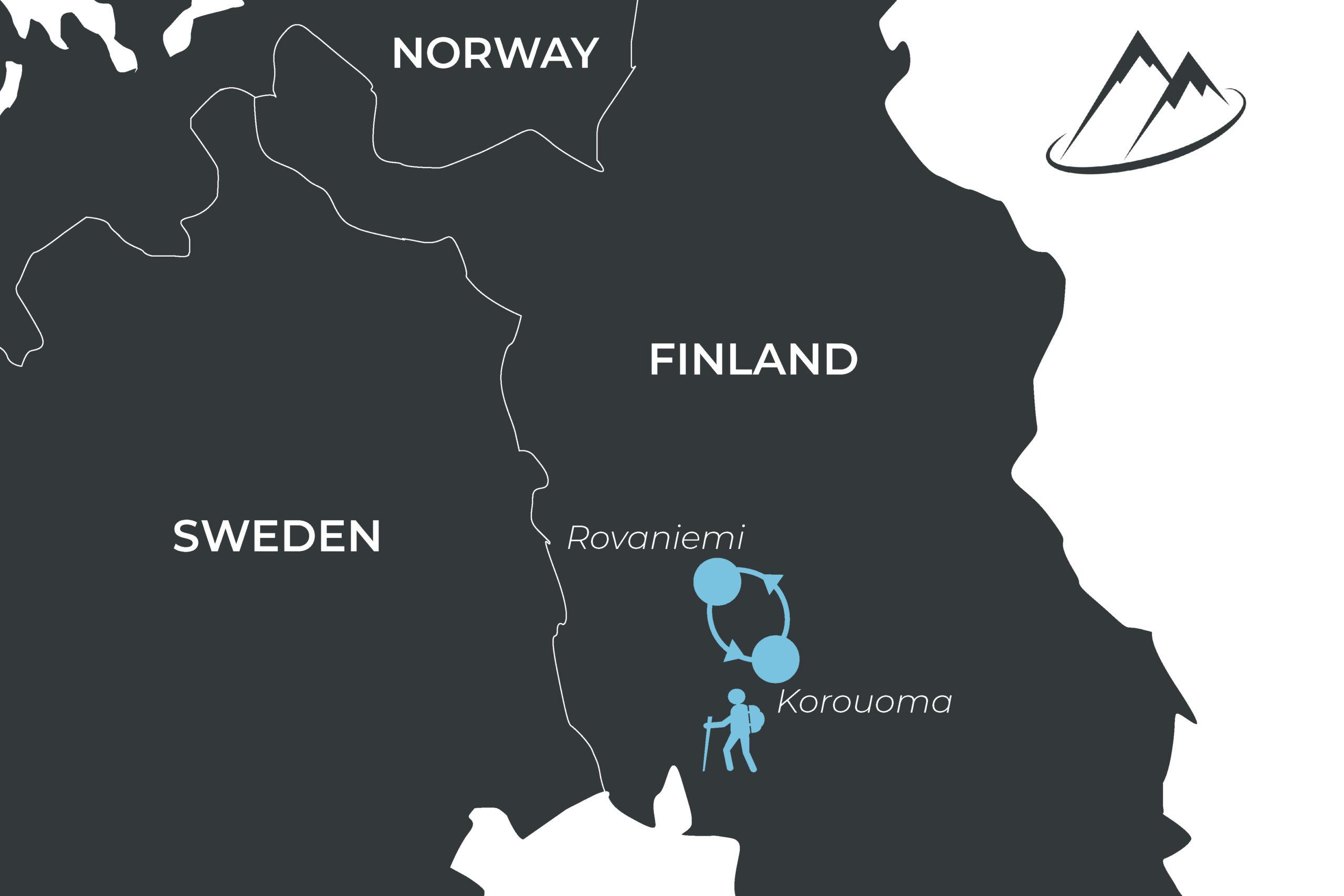 Route Rovaniemi Tromso