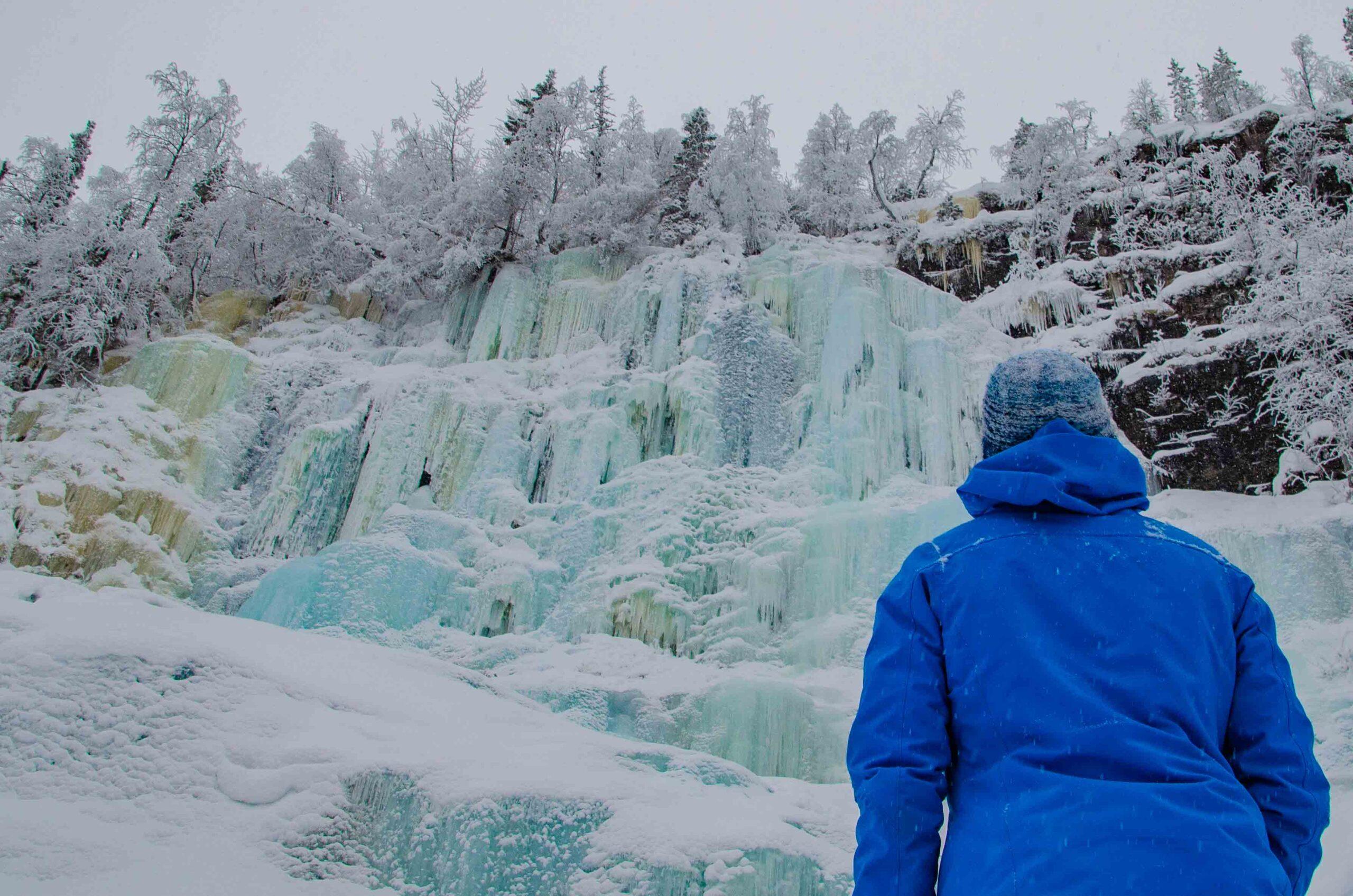Korouoma Canyon Frozen Waterfalls